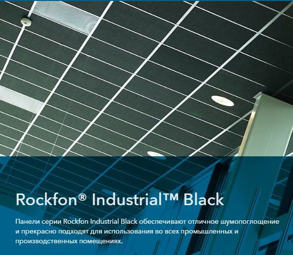 Rockfon Industrial Black